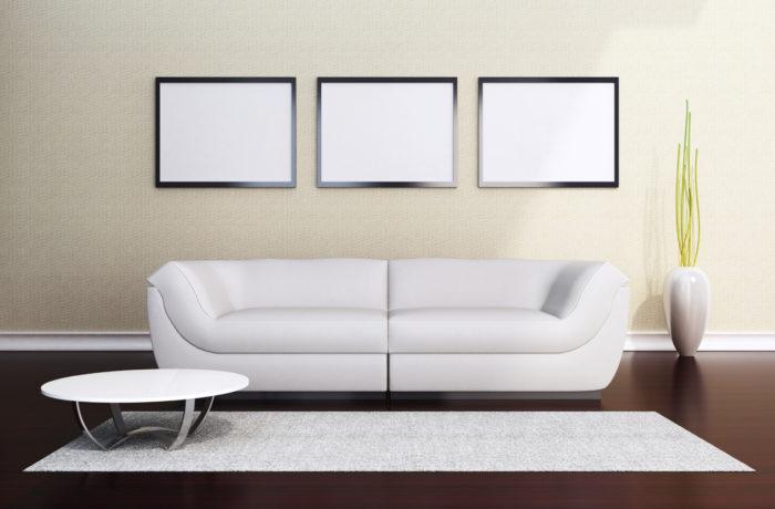 LivingRoom Wall Displays – PSD Download